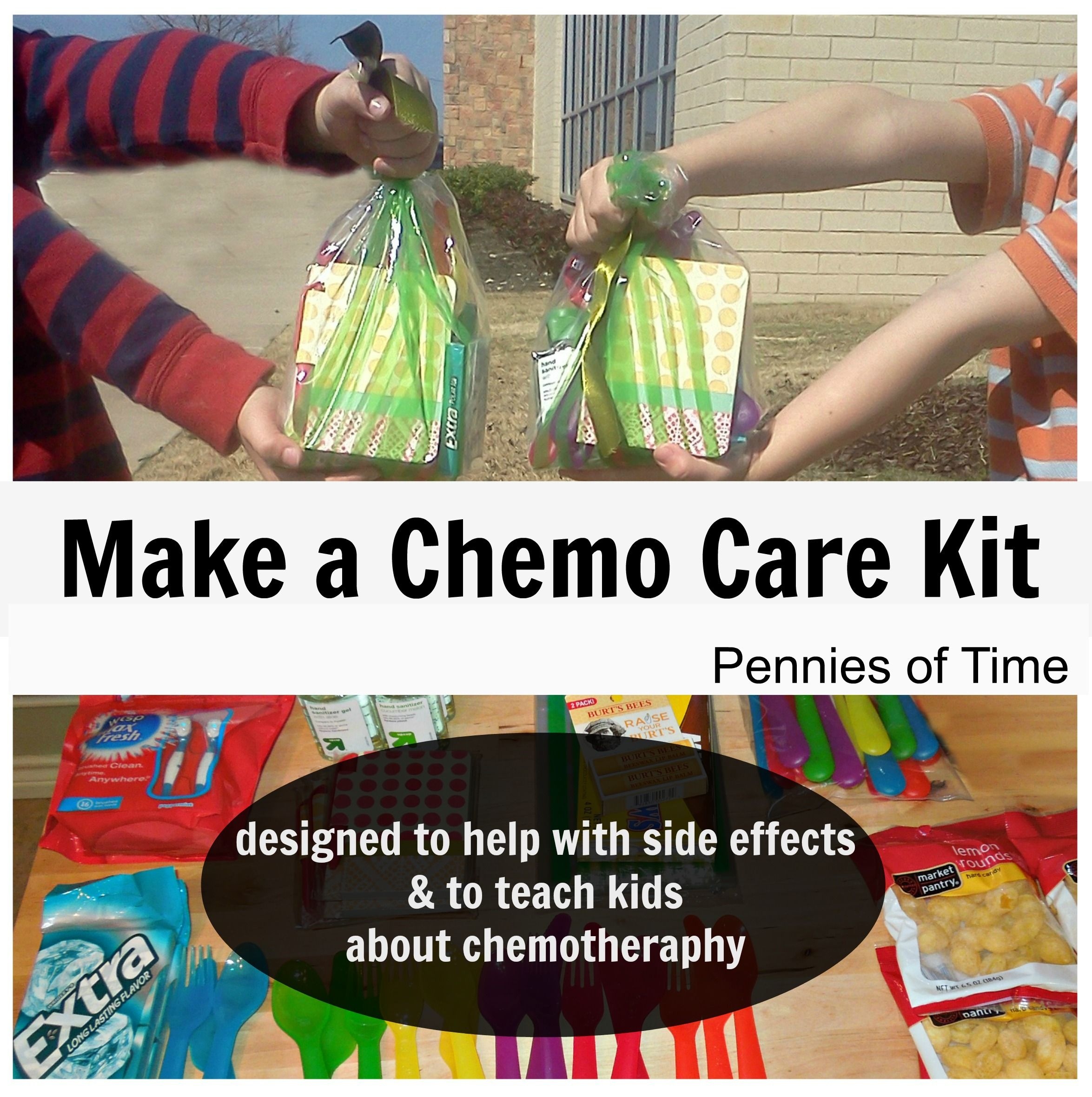 Act of kindness making chemo care packages chemo care