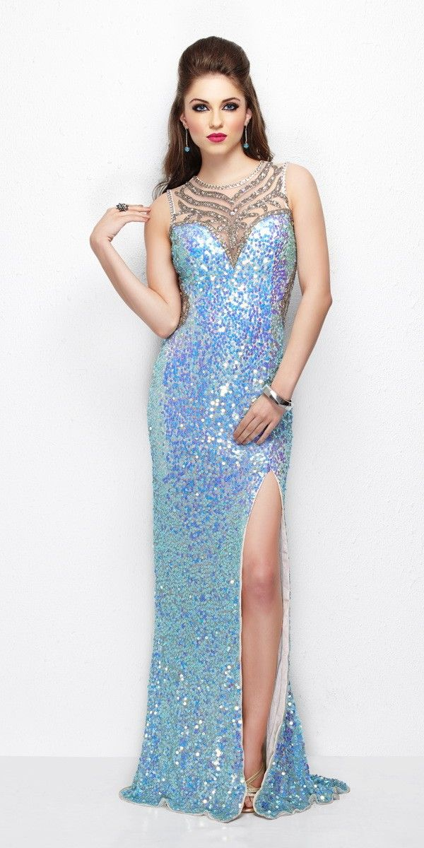 Long Sequin High Neck Dress Prom Dresses Prom Dresses Prom