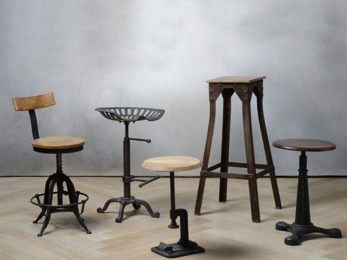 Sgabello industriale arredamento mobili e accessori per la casa