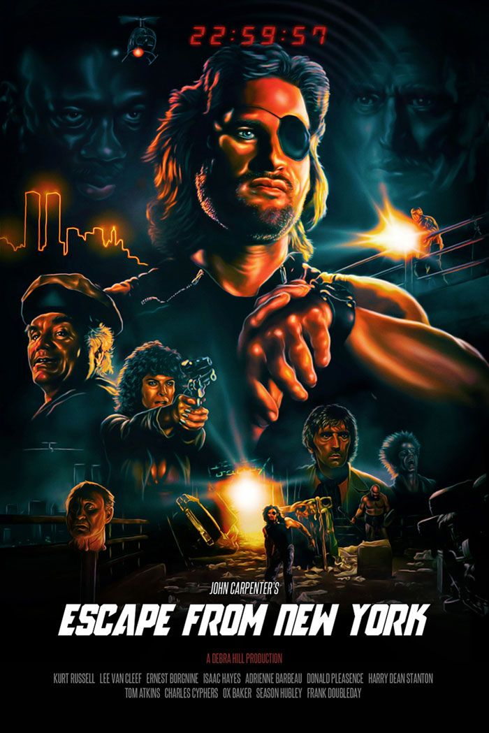 Escape from New York by Ralf Krause | Movie posters, New york poster,  Alternative movie posters
