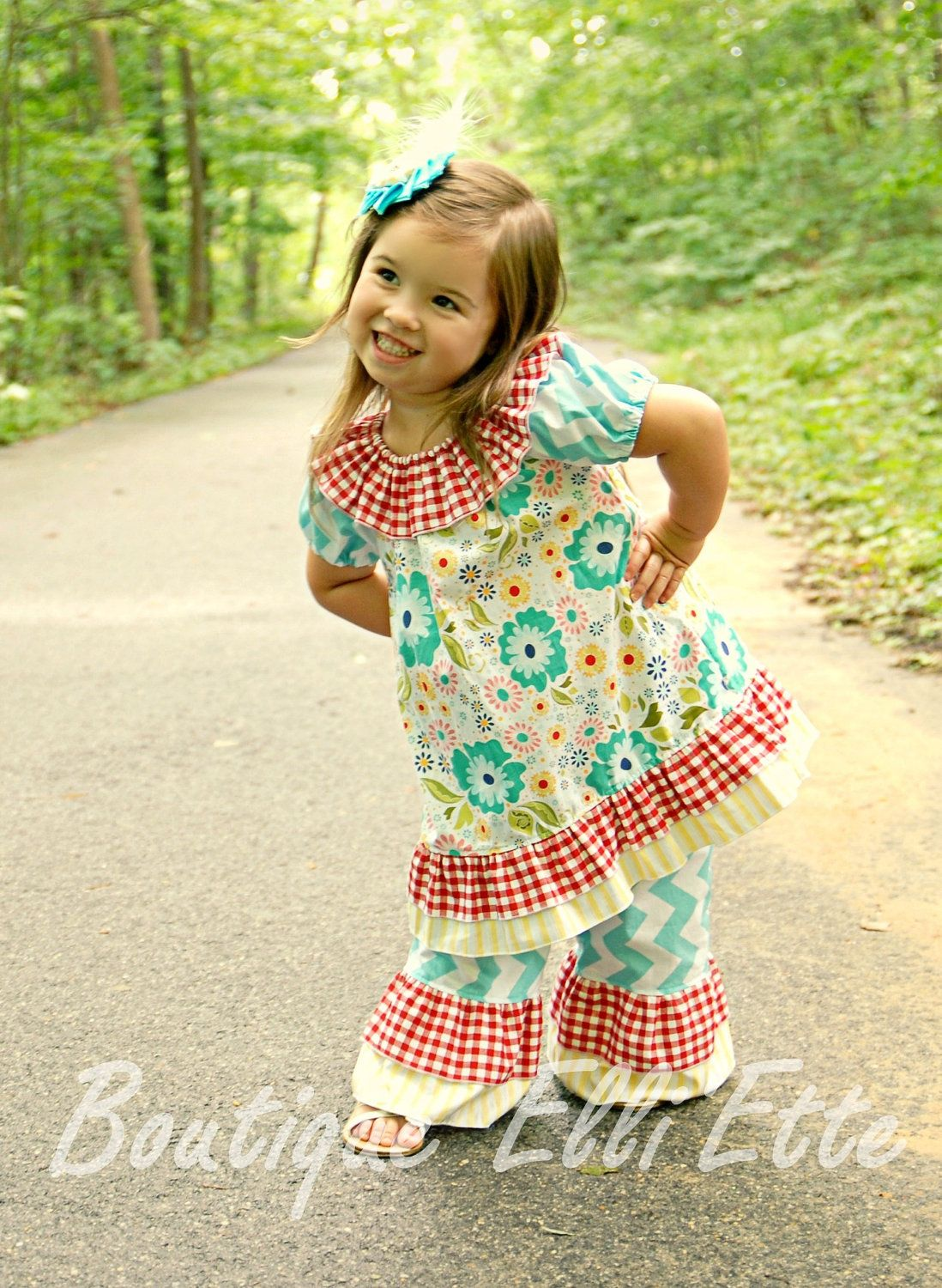 Girls Double Ruffle Pants Seaside Collection | Pet Ideas | Pinterest