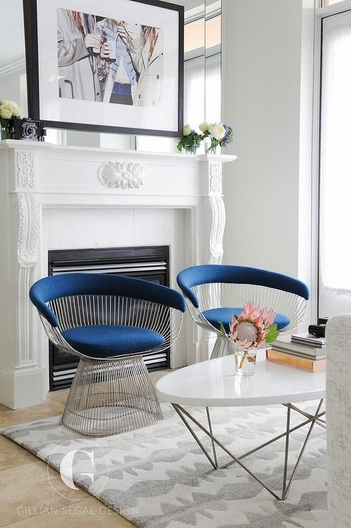 Best White And Blue Living Room Features An Oval Coffee Table 640 x 480