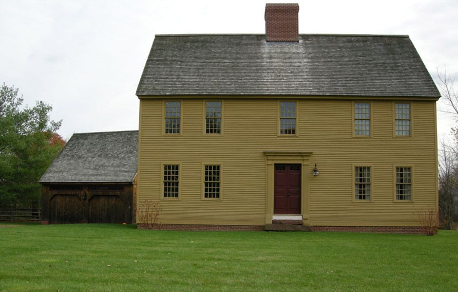 Colonial homes for sale in connecticut 18th century for Colonial reproduction house plans