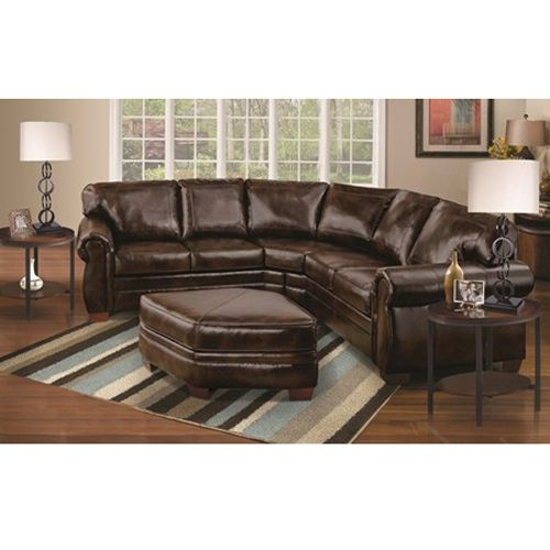 Best Woodhaven Milestone Chocolate Sectional Living Room Group 400 x 300