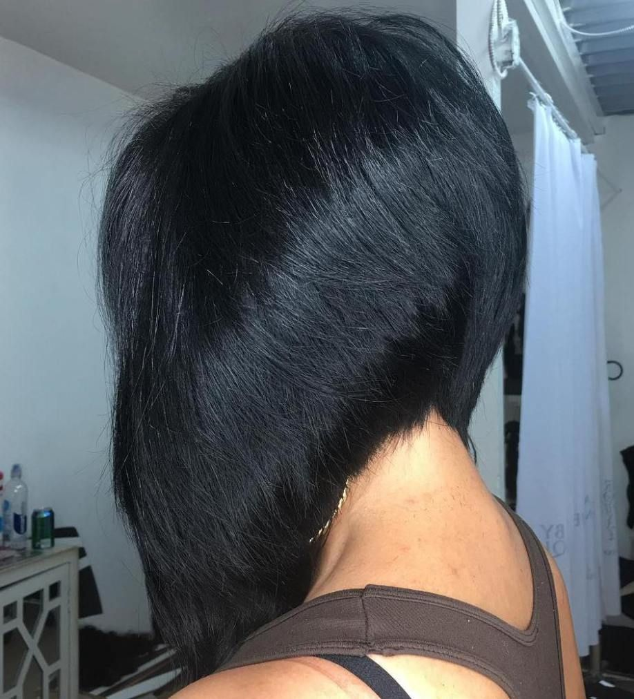 chic angled bob haircuts black bob bobs and hair style