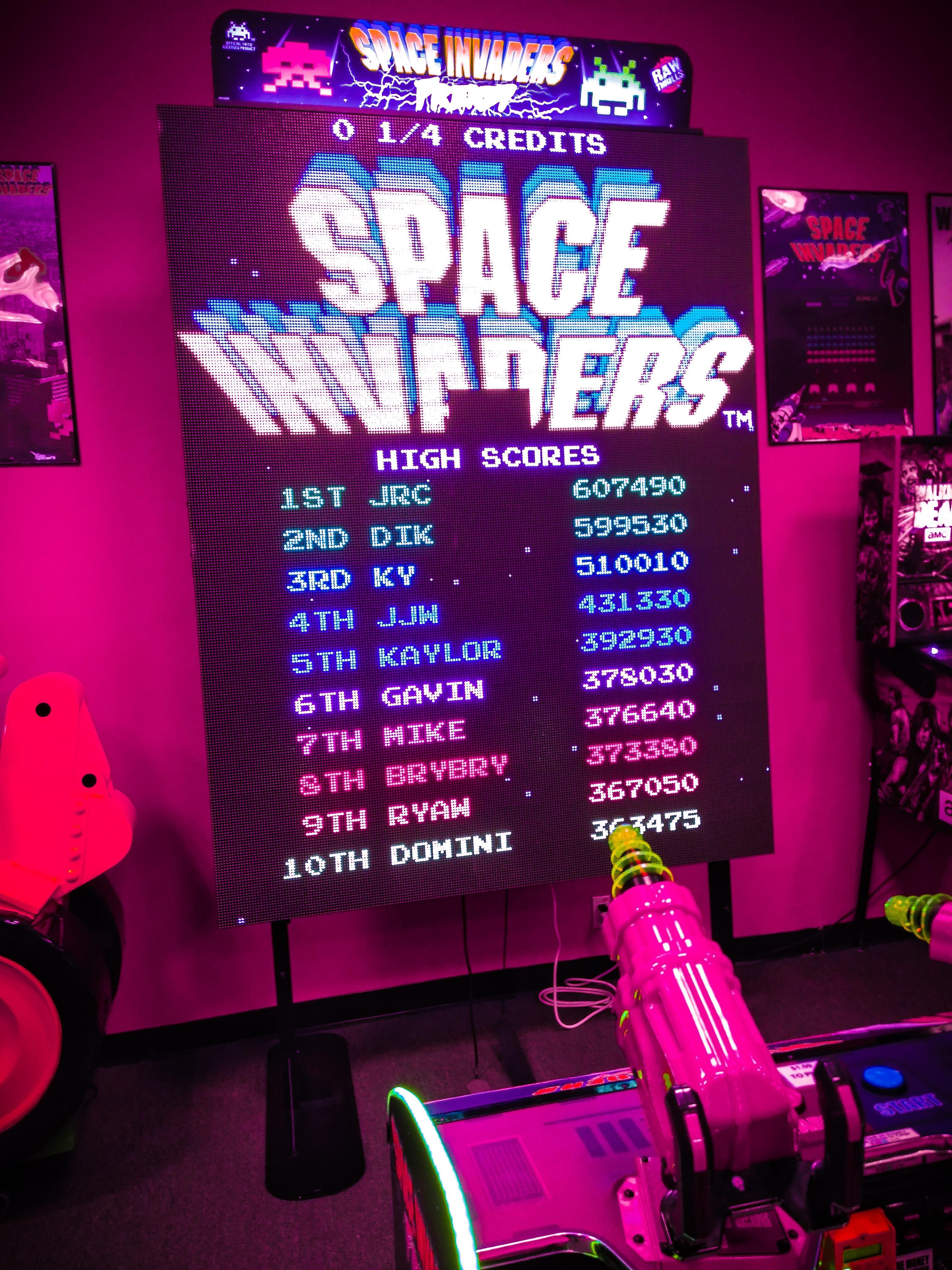 2019 Space Invaders Classic games, Digital text