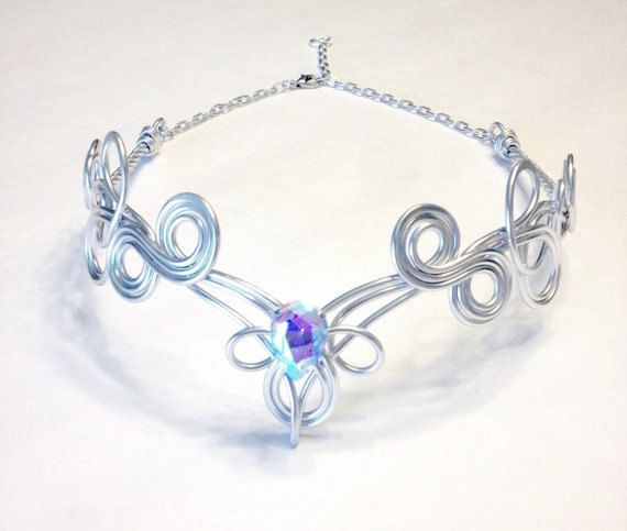 KALINA Circlet – Celtic Elven Medieval Renaissance – Hand Crafted – Choose Your Own COLOR – Crown Tiara Bridal Wedding Hairpiece Cosplay