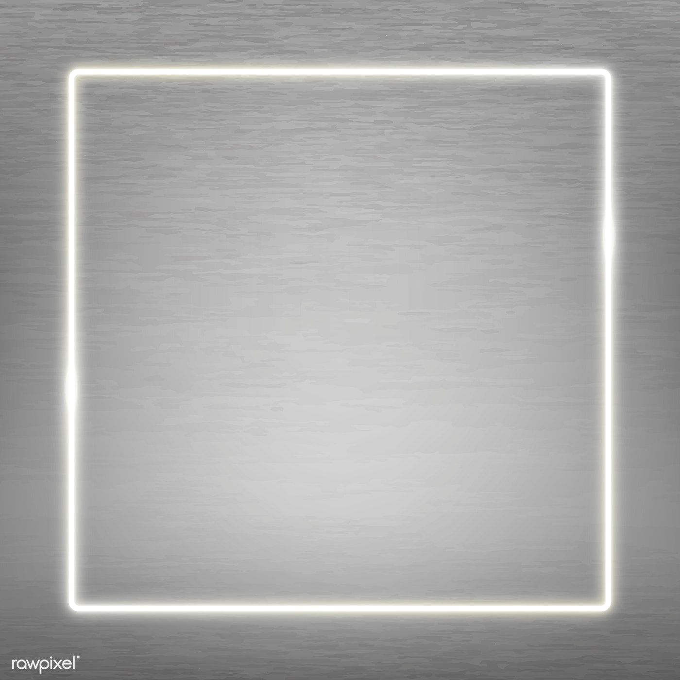 White Neon Sign Black Background