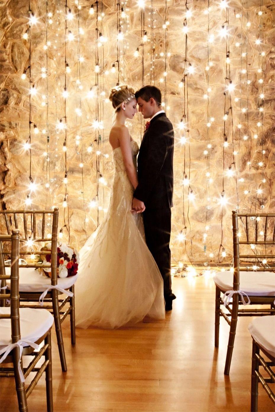 DIY Ping Pong Ball Lights Indoor wedding ceremonies