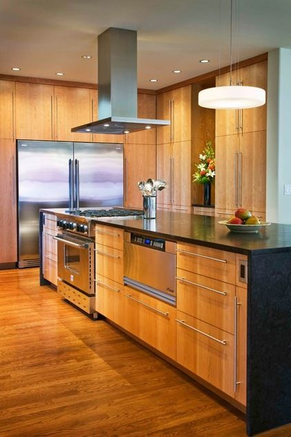 Painted Vs Stained Kitchen Cabinets Help For Deciding Modern Kitchen Remodel Stained Kitchen Cabinets Kitchen Remodel