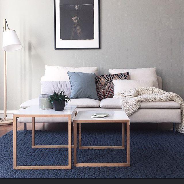 Ikea U0027Söderhamnu0027 Sofa U0026 U0027PSu0027 Sidetables @designlykke.  GroßßmutterwohnungGastzimmerWohnungseinrichtungWohnzimmer Ideen