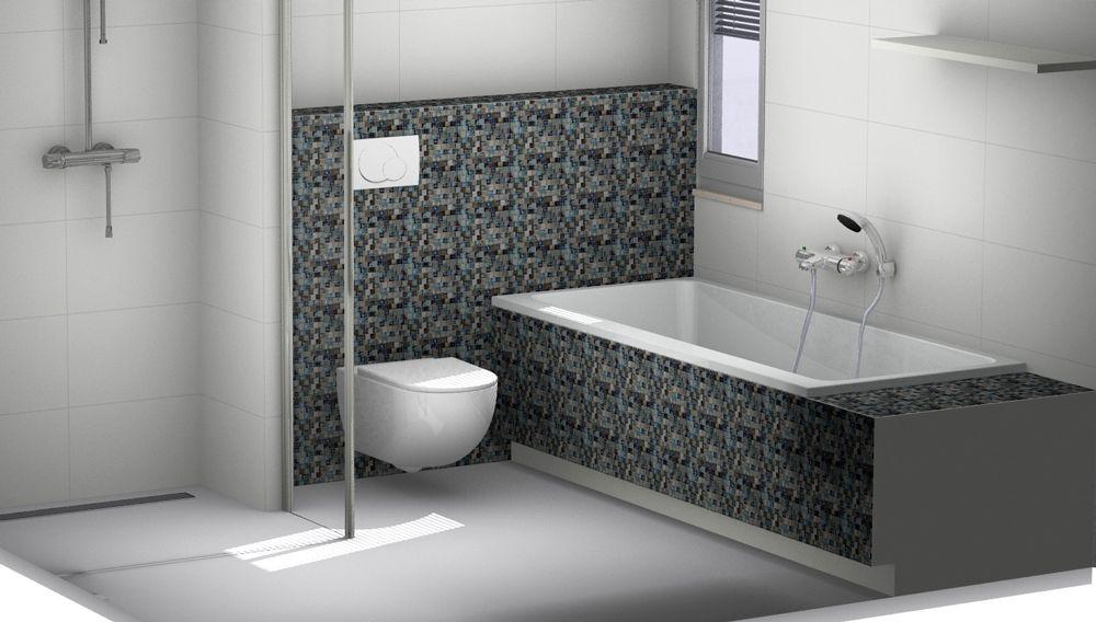 Mozaïek tegels in de badkamer. Je eigen badkamer ontwerpen? Gebruik ...