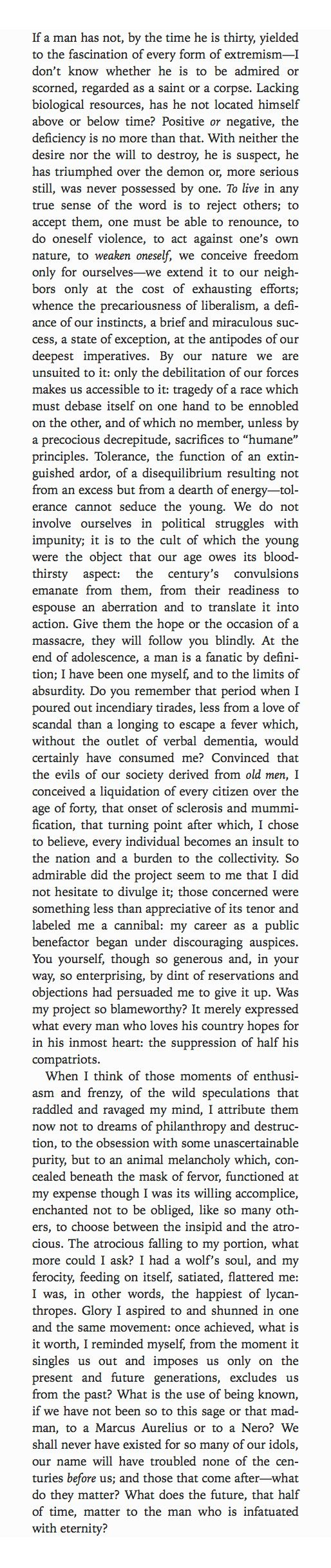 High School Essay Emil Cioran On His Youthful Extremism From History And Utopia Letter To A  Faraway Friend Philosophy Essay Q  Emil Cioran The King Of Pessimists   Abortion Essay Thesis also Health And Fitness Essay Emil Cioran On His Youthful Extremism From History And Utopia  Buy Essay Papers