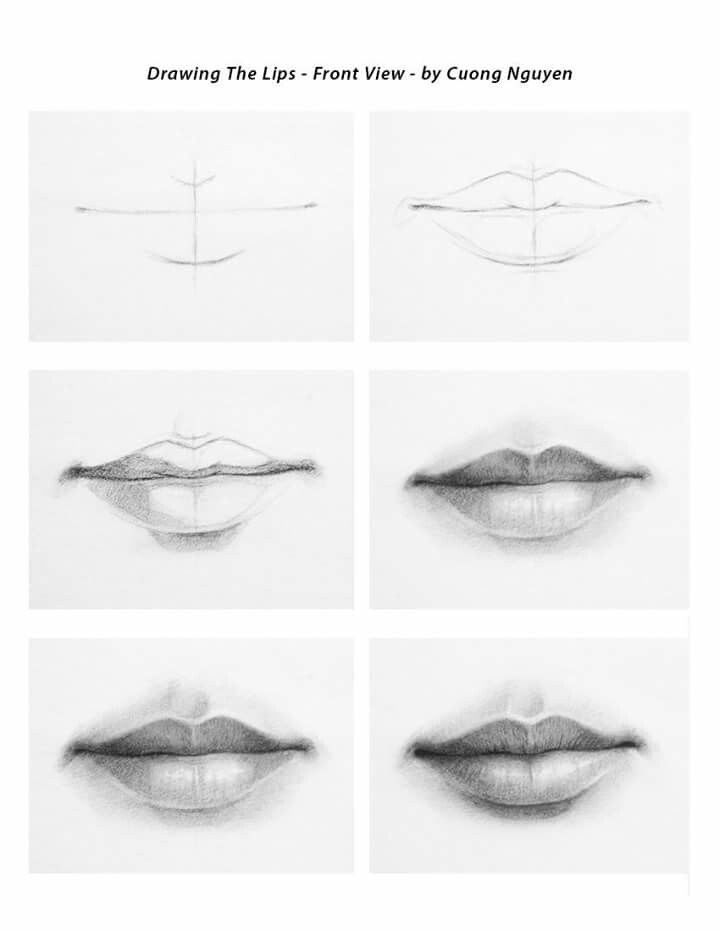How To Draw Female Lips : female, Female, Drawing,, Drawing, People,, Realistic, Drawings