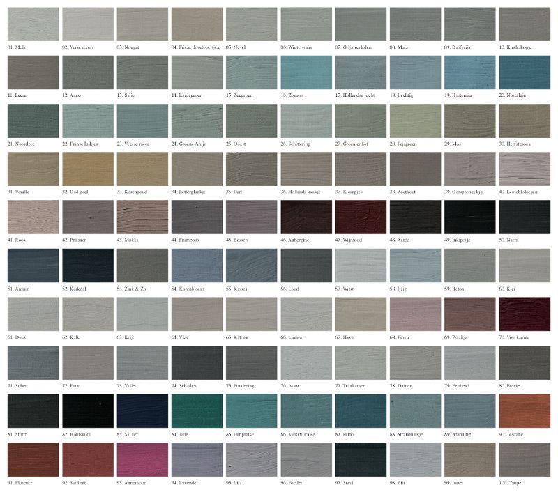 kleurenkaart 'l Authentique