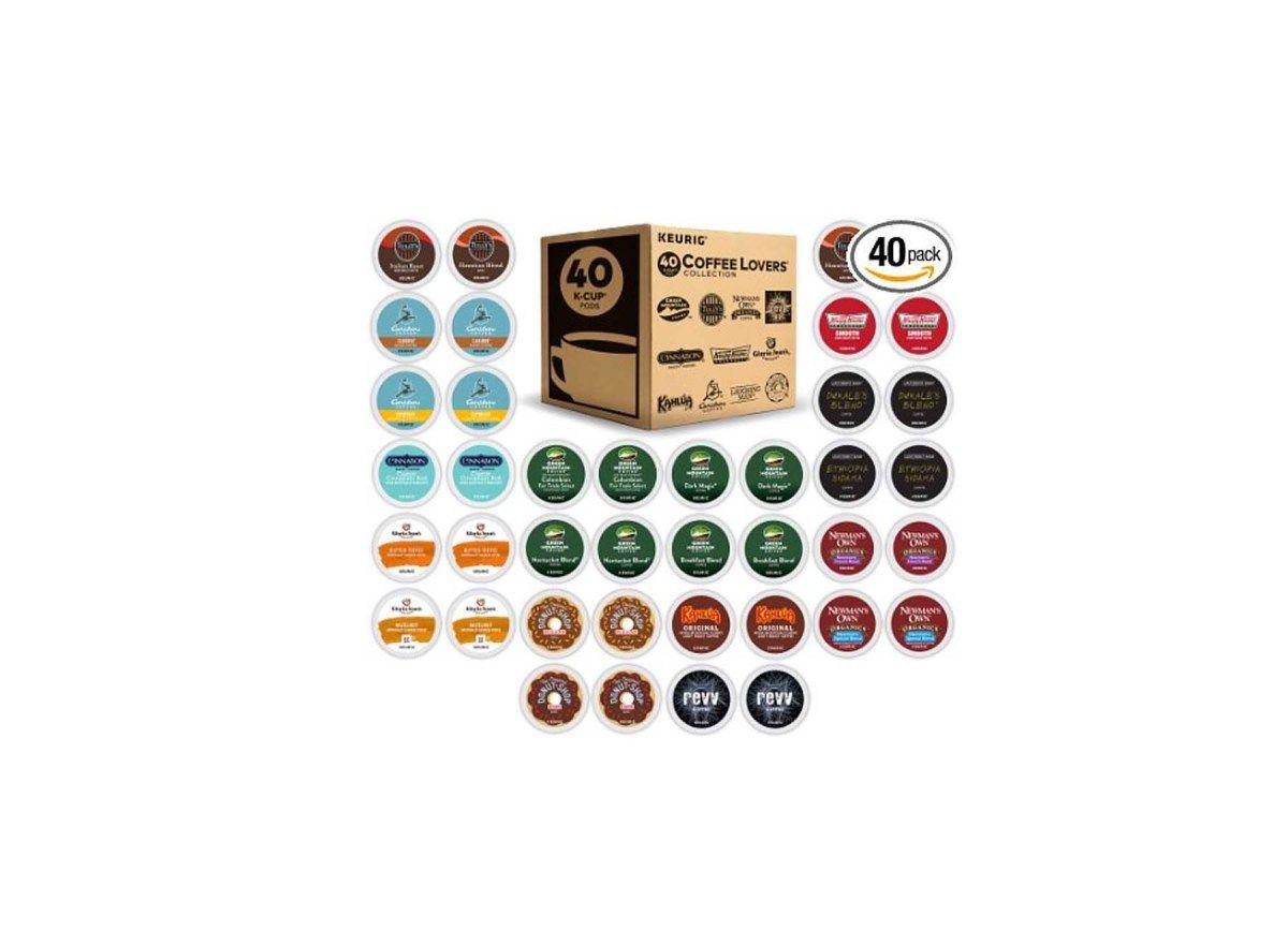 40 Count Green Mountain Coffee Keurig Variety Pack Single Serve K Cup  Sampler Is