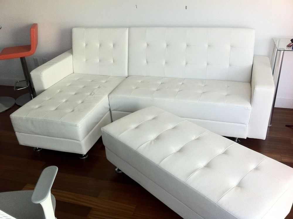 Details About Leather Match Sectional Sofa L Shape Couch