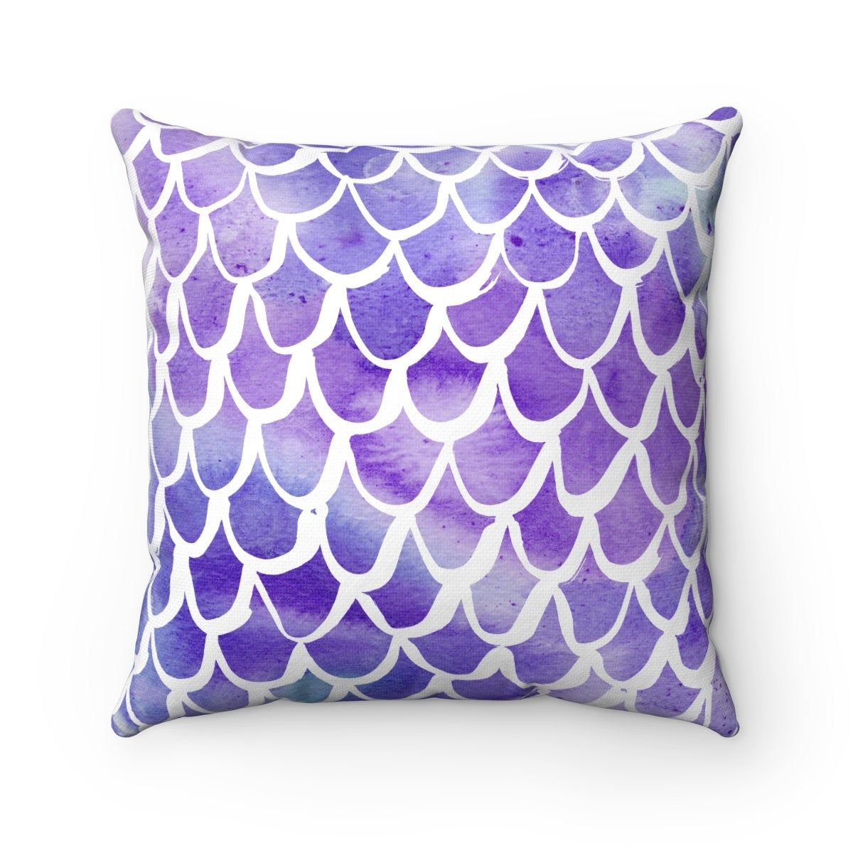 Outdoor Throw Pillow Mermaid Outdoor Pillow Purple Patio