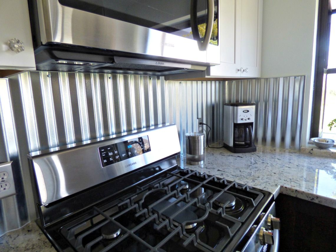 Corrugated Metal Backsplash Kitchen Remodels Pinterest Corrugated Metal Metals And Kitchens
