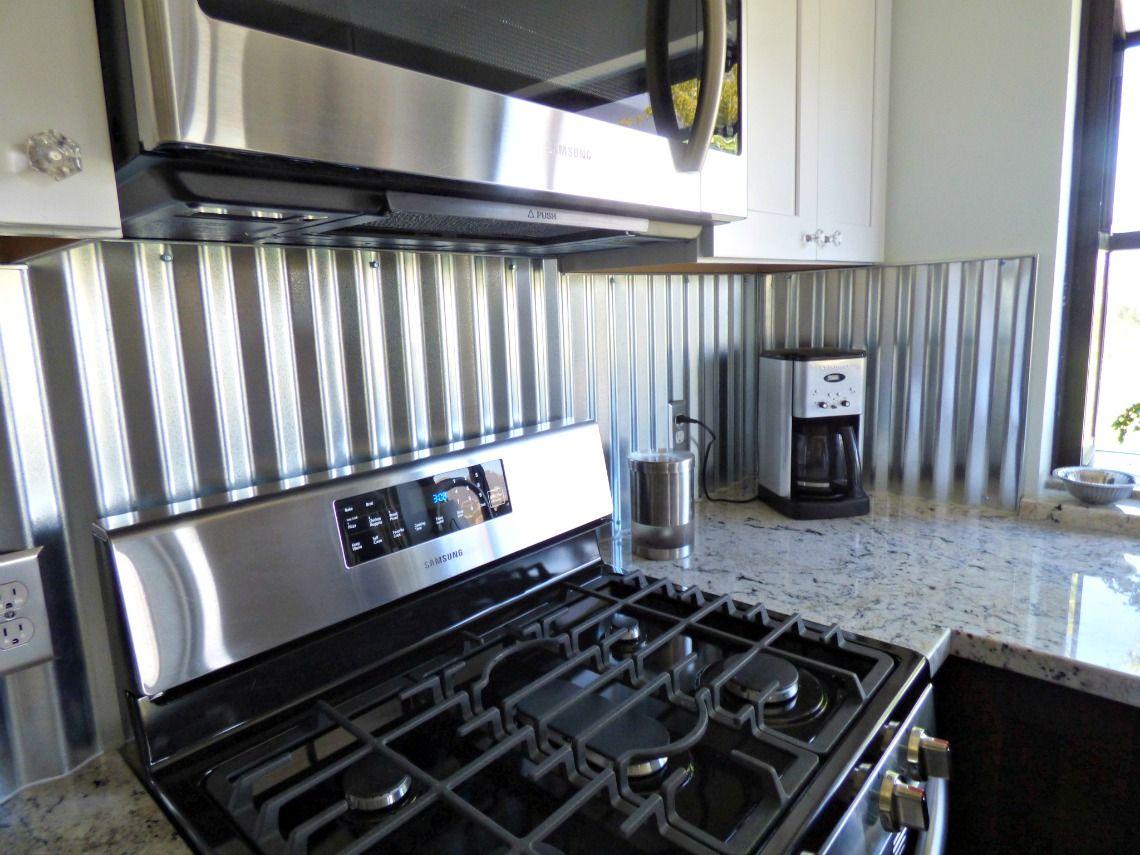Corrugated Metal Backsplash Tin Backsplash Kitchen Metal Backsplash Kitchen Metallic Backsplash