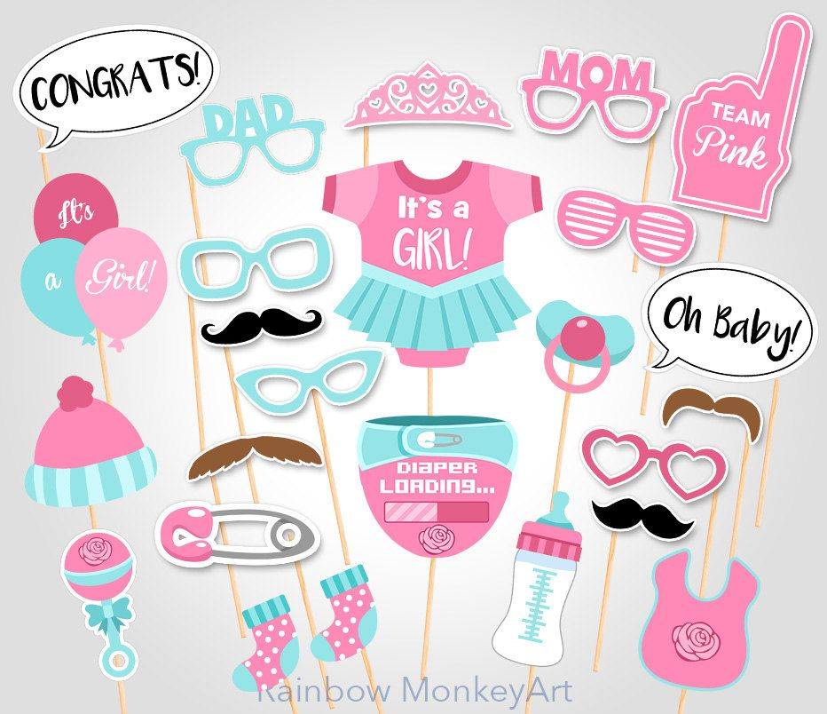 Baby Shower Photo Booth Props - Printable Photo Booth Props - It\'s a ...