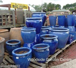 Extra Large Blue Glazed Pot Tree Planter Garden Pots Essex Large Garden Pots Large Ceramic Planters Large Garden Planters