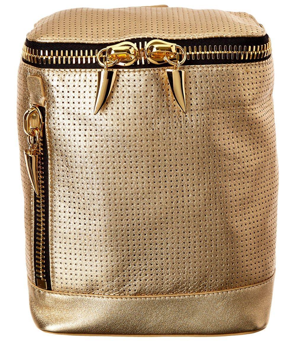 GIUSEPPE ZANOTTI Giuseppe Zanotti Metallic Leather Backpack'. #giuseppezanotti #bags #leather #lining #backpacks #metallic #