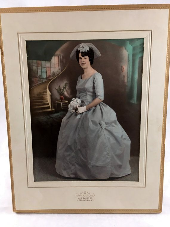 Antique Southern Belle Wedding Photograph Large Framed Wedding