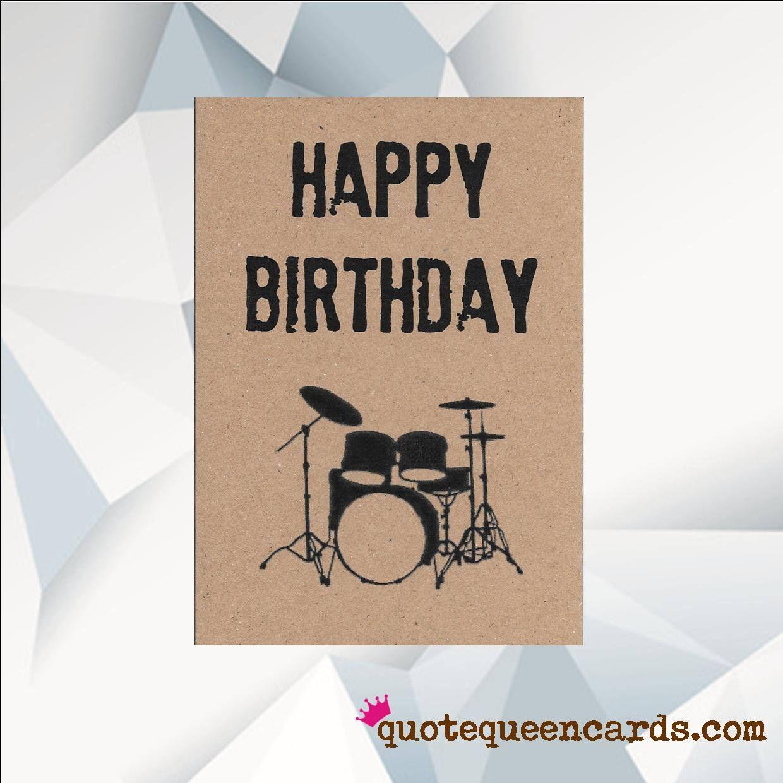 Happy Birthday Drum Kit Music Birthday Card Drum Kit Etsy Happy Birthday Drums Music Birthday Birthday Card Sayings