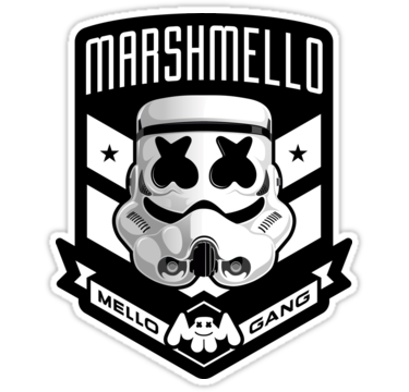 Marshmello Amp 8211 Mellogang Stormtrooper Also Buy This Artwork On Stickers Apparel Phone Cases Et More ภาพศ ลปะ