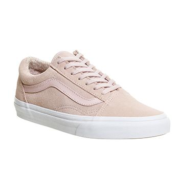 Pastel Perfection: The Suede Woven Old Skool in Vans Girls
