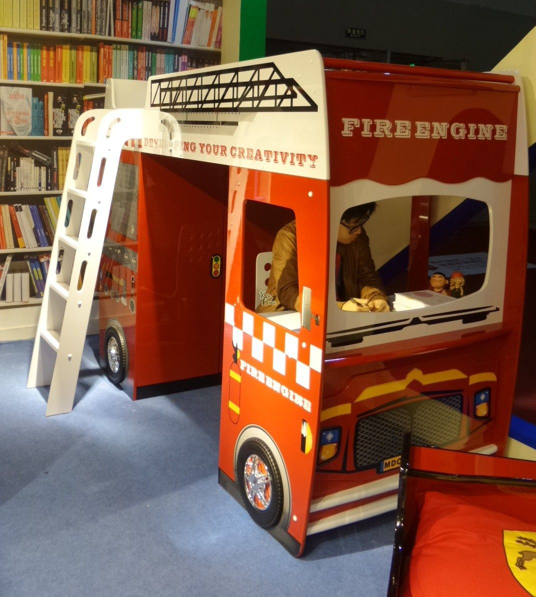 Fire Engine Loft Bed (With Study Table & Wardrobe
