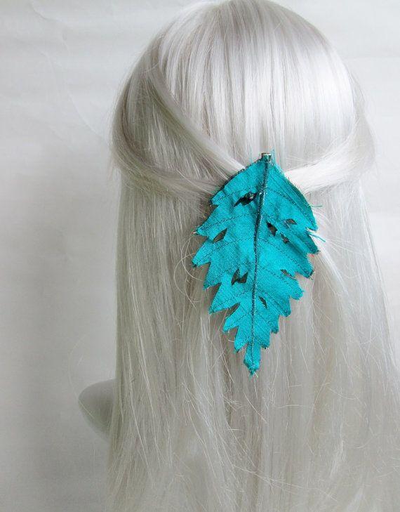 Woodland Hair Clip Fairy Silk Leaf Hair Accessory by AncientGrove