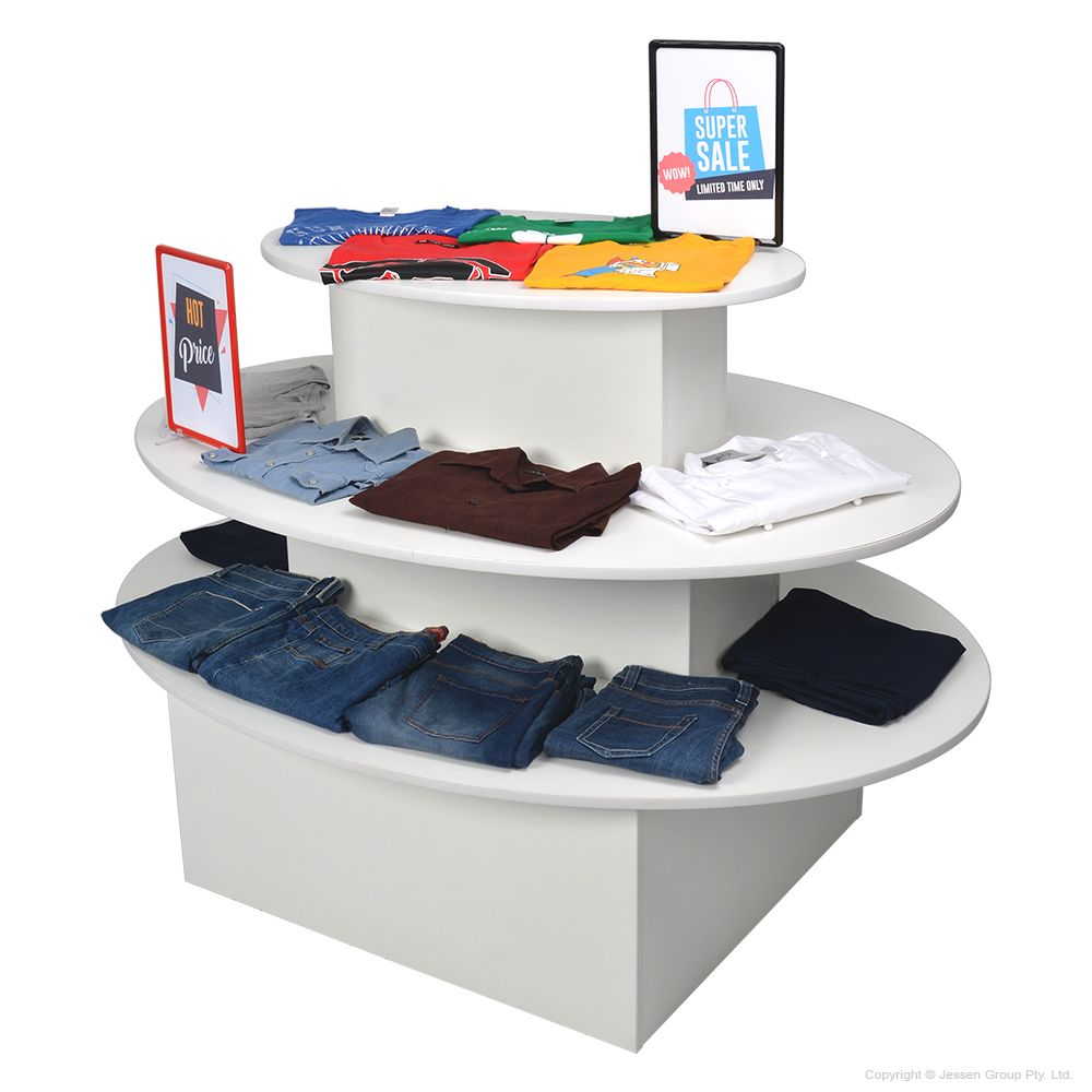 Round Retail Display Tables Retail In store Design