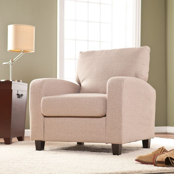 Killian Oyster Beige Arm Chair - Overstock™ Shopping - Great Deals on Upton Home Living Room Chairs