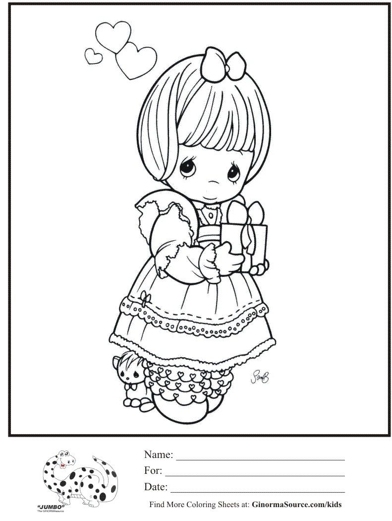 kids-coloring-page-precious-moments-girl-love-present-coloring-sheet ...
