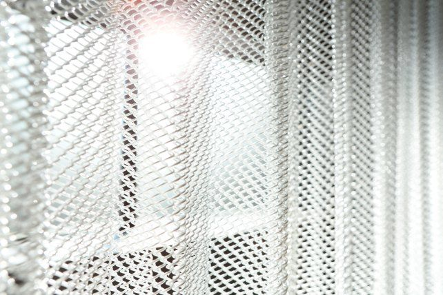 Metal Mesh Shower Curtain Genius