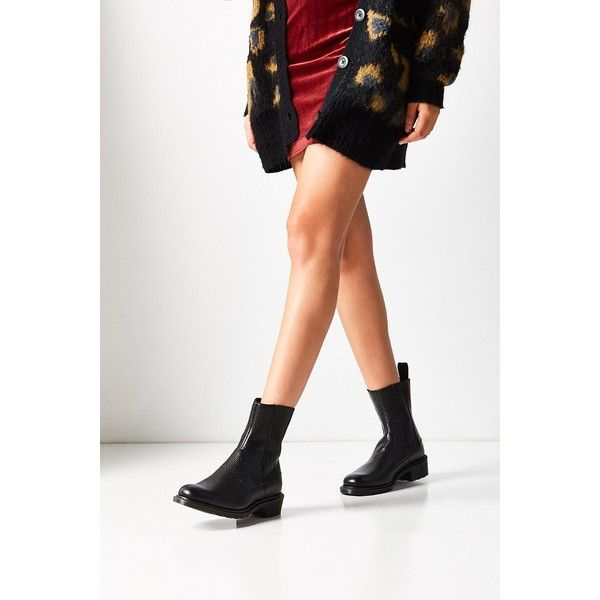 Dr. Martens Eleanore Chelsea Boot ($145) ❤ liked on Polyvore featuring shoes, boots, chelsea bootie, leather shoes, synthetic boots, dr martens boots and beatle boots