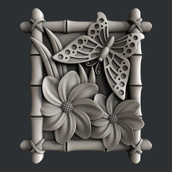 3d STL models for CNC router butterfly Products Cnc