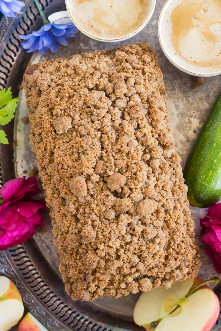 streusel apple zucchini bread • the gold lining girl in