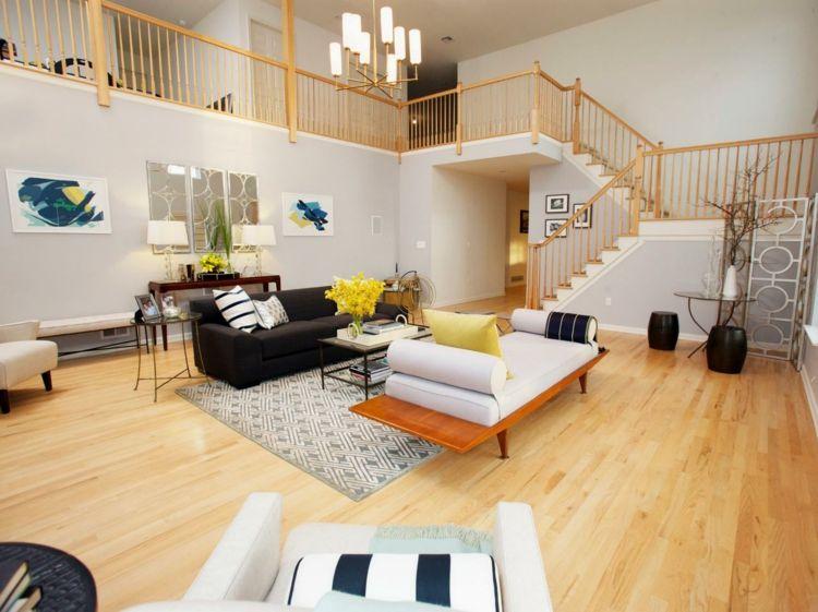 Beispiele zum Wohnzimmer einrichten \u2013 30 moderne Ideen Dekoration - Wohnzimmer Einrichten Grau