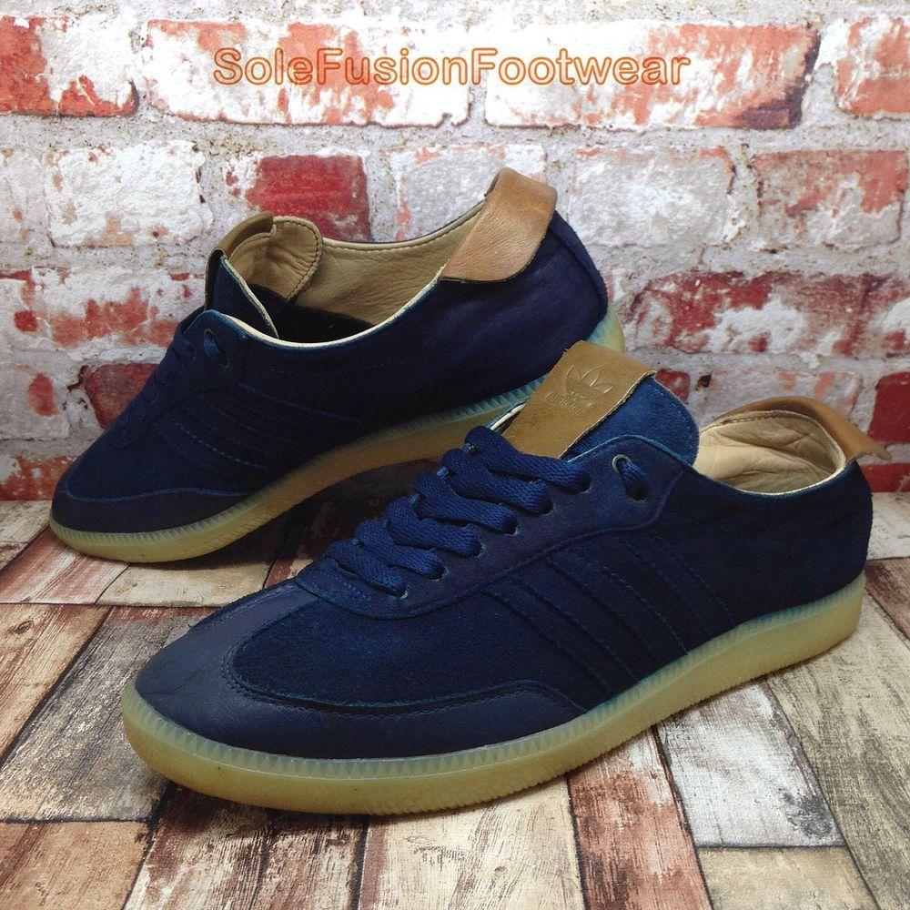 adidas Originals Mens Samba Trainers Blue size 8 Classic