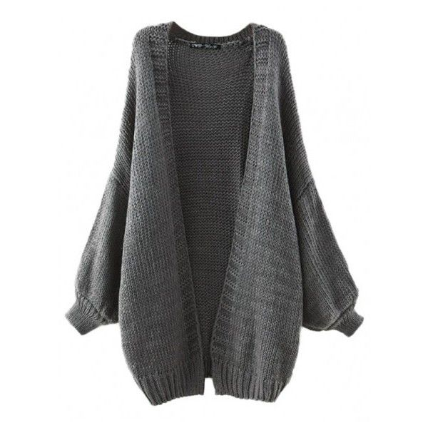 Cocoon me Oversized Cardigan (31) liked on Polyvore