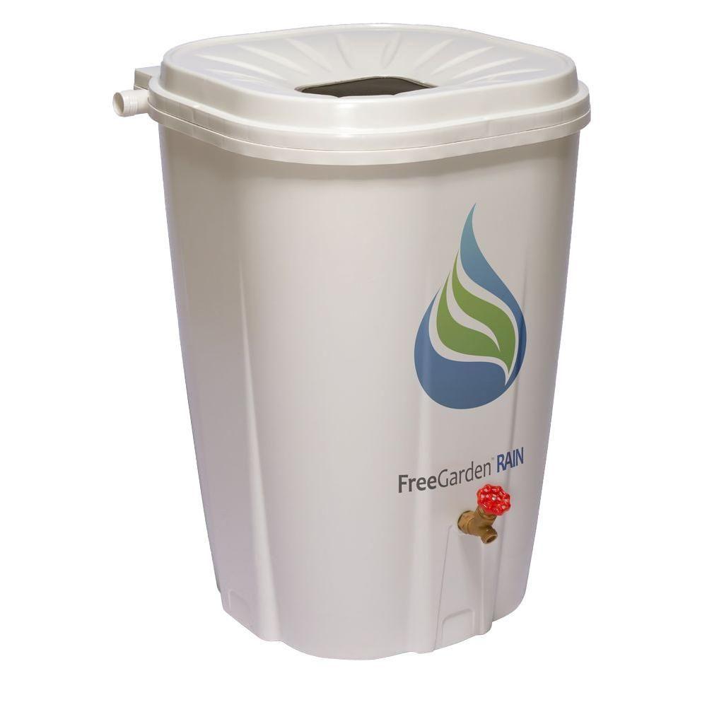 Freegarden Rain 55 Gal Rain Barrel With Brass Spigot Beige Rain Barrel Kit Rain Barrel Rain Water Barrel