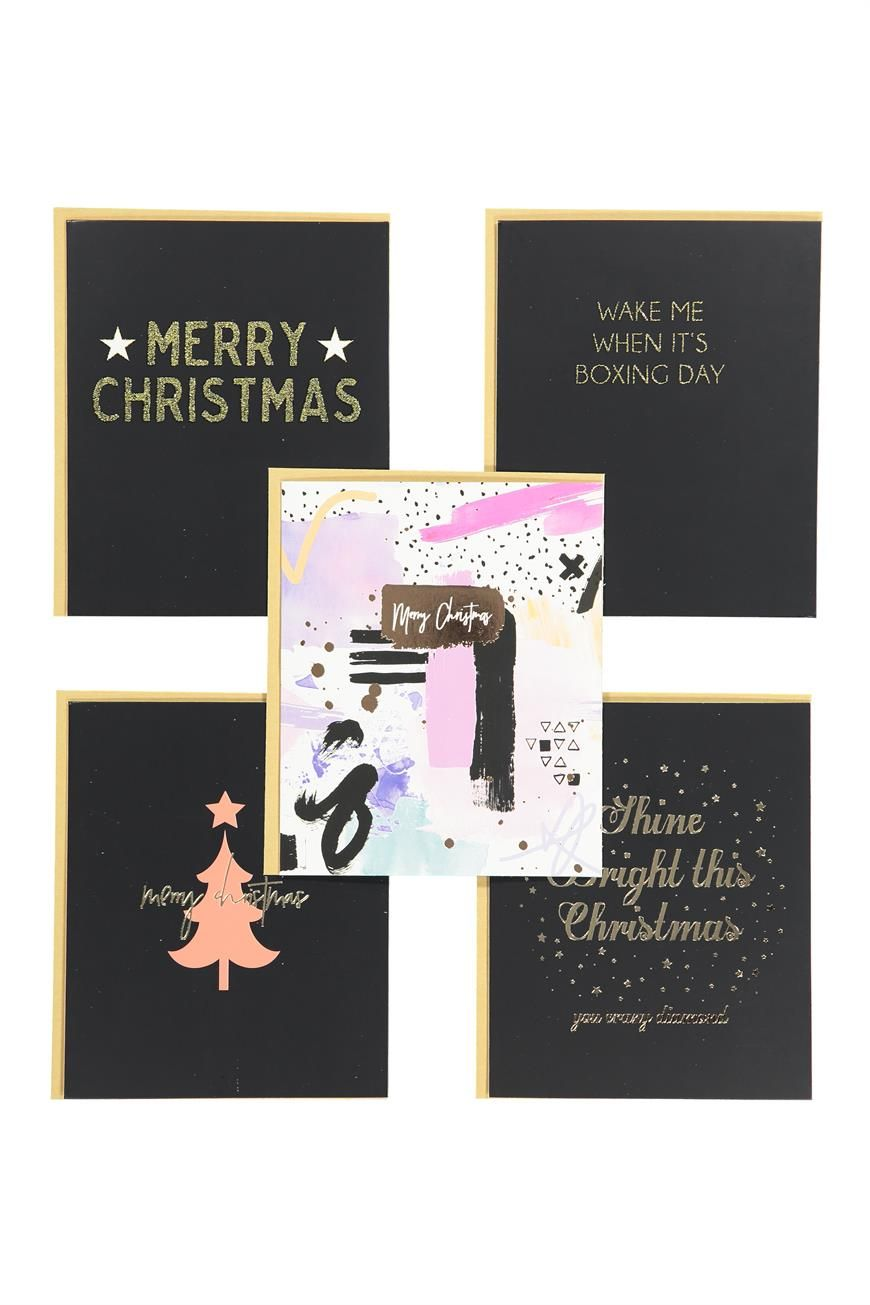pack 10 christmas cards