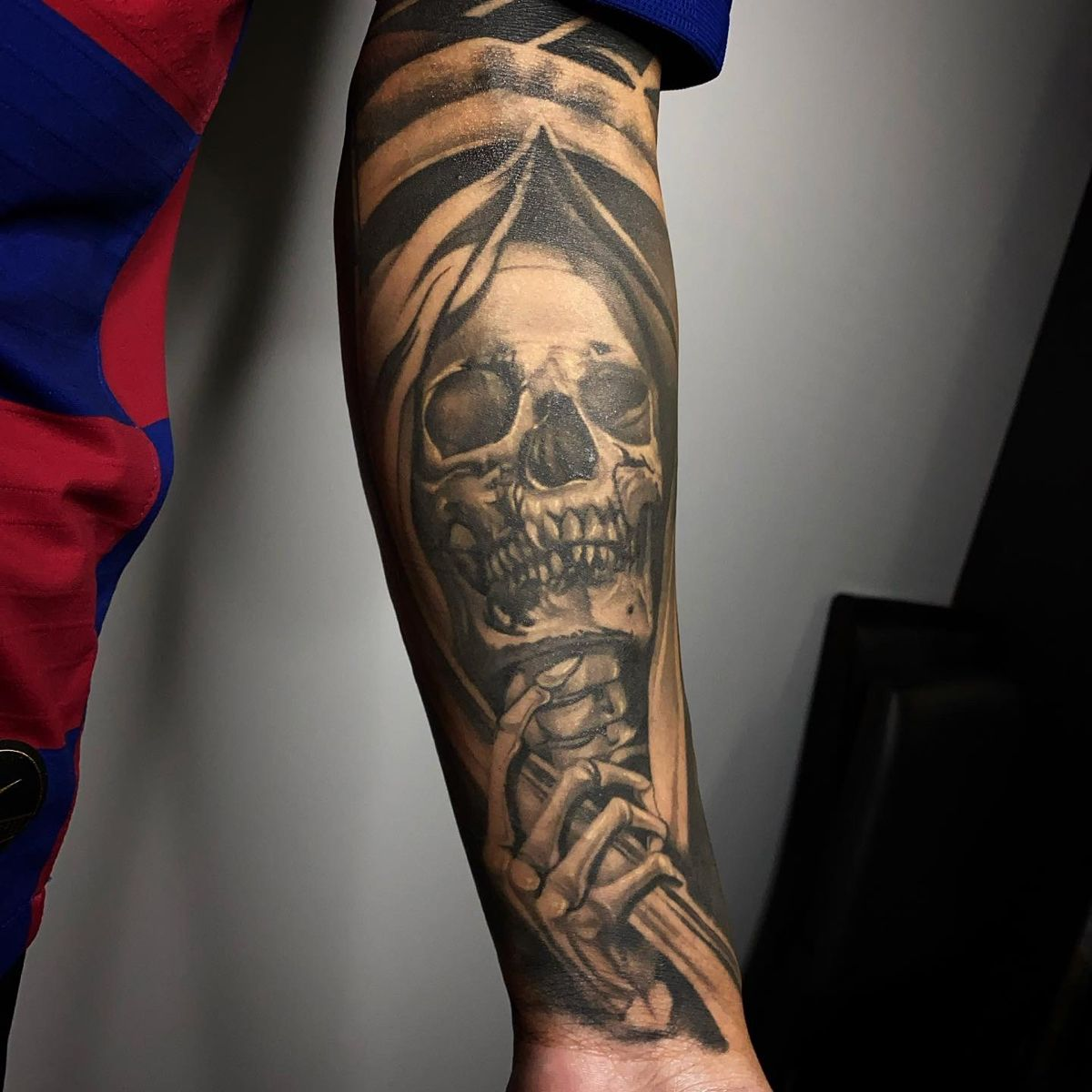 Healed Grim Reaper Tattoo in 2020 Cool tattoos for guys