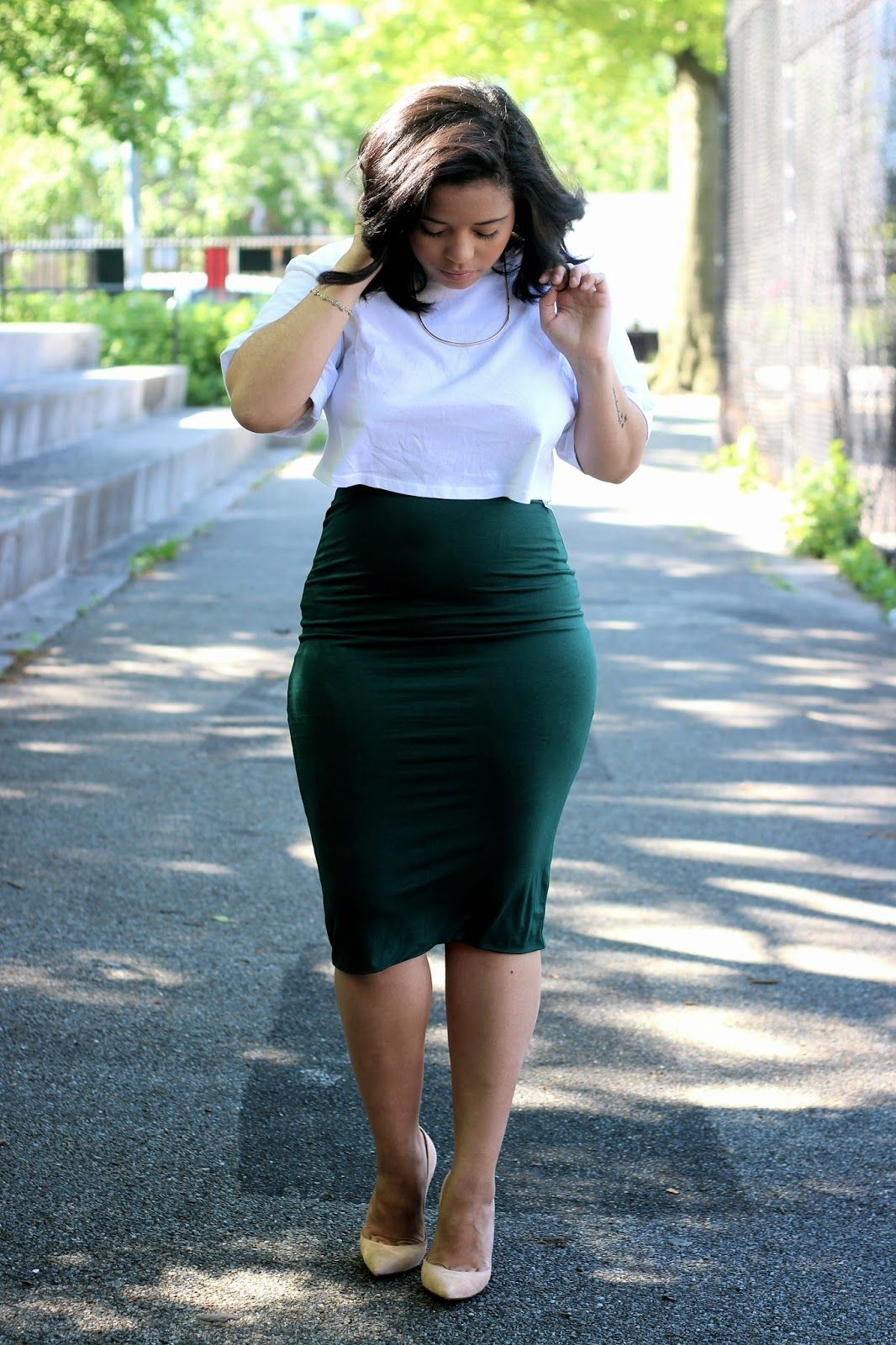 OUTFIT| MIDI PENCIL SKIRT | F@$H!0N | Pinterest | Midi pencil skirts ...