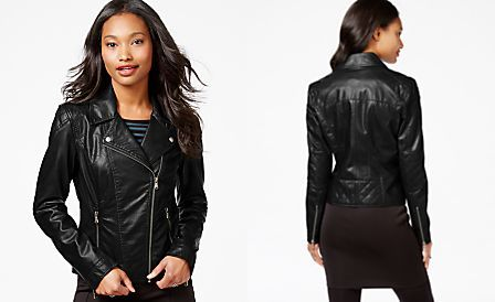 Celebrity Pink Faux-Leather Moto Jacket | Cosplay: Jessica Jones ...