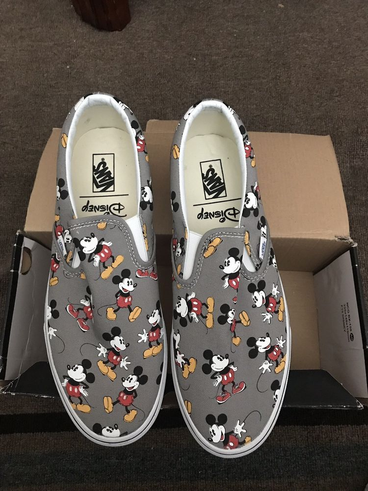 4c454e32186c85 Vans Classic Slip On Disney Mickey Mouse Frost Gray VN-00MEGHG Men s Size  11.5  fashion  clothing  shoes  accessories  mensshoes  athleticshoes (ebay  link)