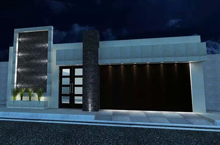 Fachada de casa de un piso remodelar mi casa fachadas for Fachadas modernas para casas de infonavit